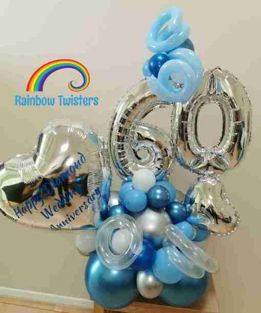 Anniversary Balloons by Rainbow Twisters Glasgow