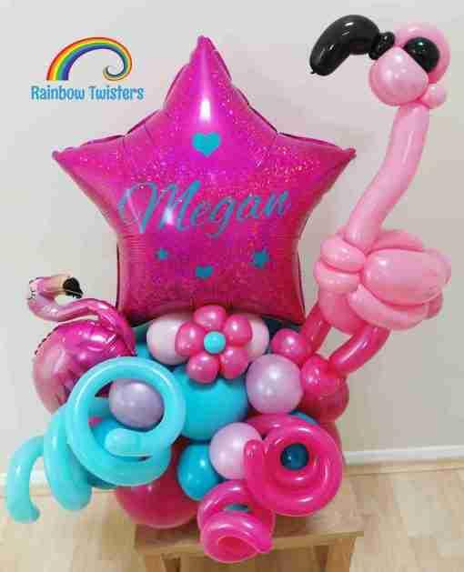 Flamingo Birthday Balloons Rainbow Twisters Glasgow Balloon Company