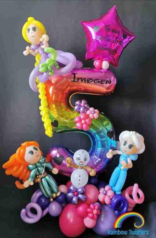 Princess Birthday Balloons Rainbow Twisters Glasgow Balloon Company