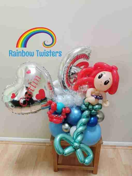 Mermaid Birthday Balloon