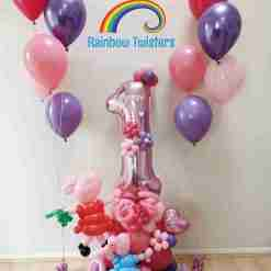 pig Rainbow Twisters Glasgow Balloon Company
