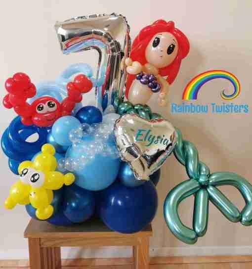 Mermaid Birthday Balloons Rainbow Twisters Glasgow Balloon Company