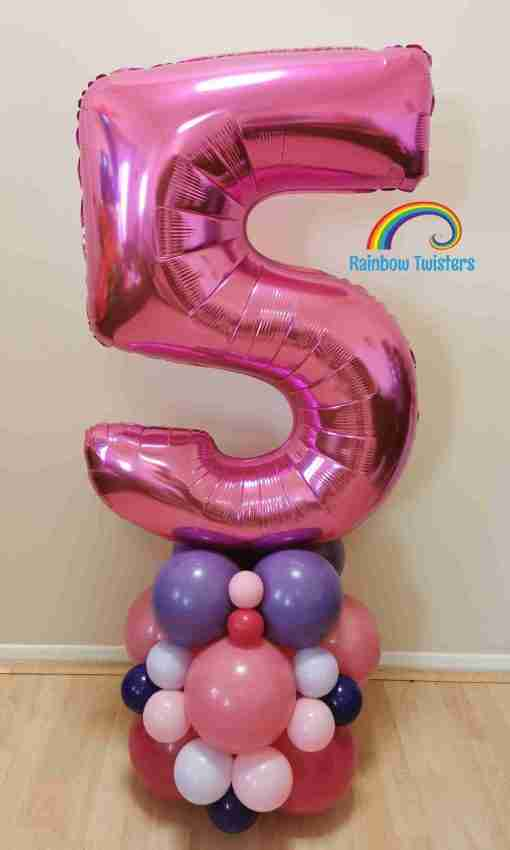 Balloon Number Column by Rainbow Twisters Glasgow