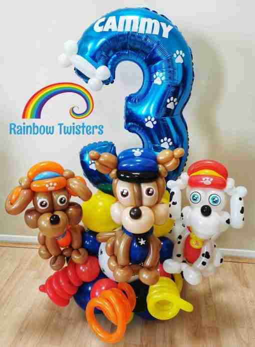 dog Themed Birthday Balloons Rainbow Twisters Glasgow Balloon Company