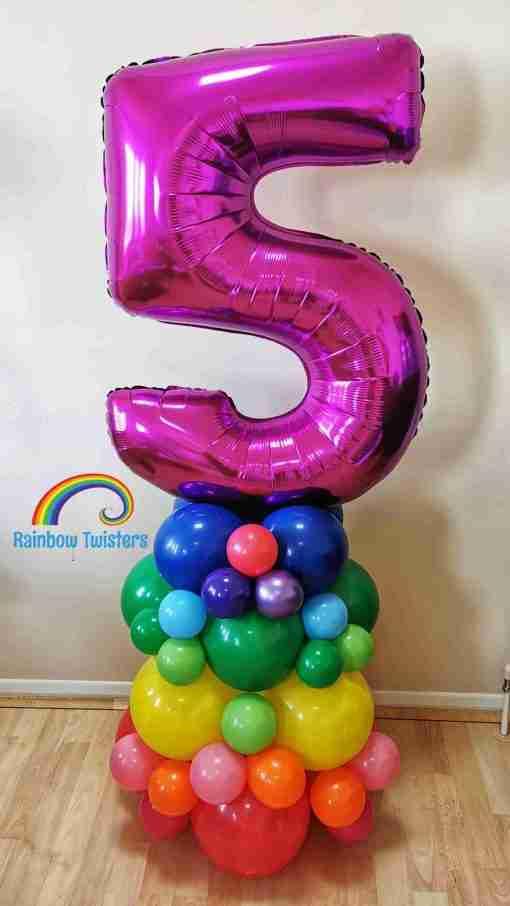 Rainbow Balloon Numbers Rainbow Twisters Glasgow