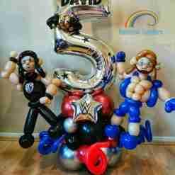 Wrestling Birthday Balloons Rainbow Twisters Glasgow Balloon Company