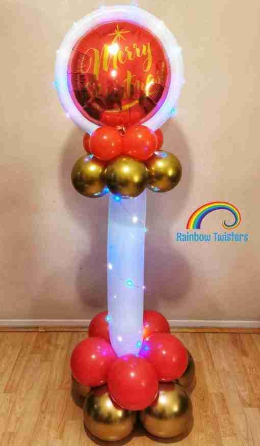 Christmas Column by Rainbow Twisters Glasgow