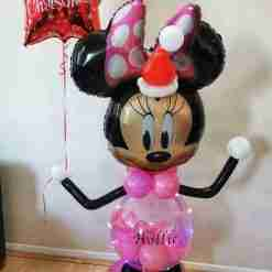 Light Up Christmas Minnie or Mickey Balloon by Rainbow Twisters Glasgow