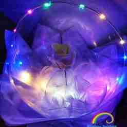 Rose Bubble Balloon by Rainbow Twisters Glasgow
