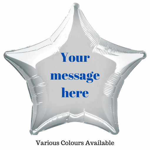 Personalised Star Balloon by Rainbow Twisters Glasgow