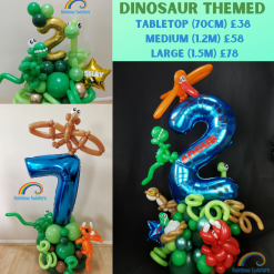 Dinosaur Themed Birthday Balloons Rainbow Twisters Glasgow Balloon Company