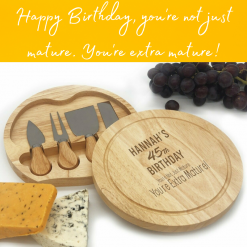 Personalised Cheese Board Rainbow Twisters Gifts