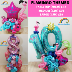 Flamingo Themed Birthday Balloons Rainbow Twisters Glasgow Balloon Company