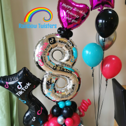 Social Media Birthday Balloons Rainbow Twisters Glasgow Balloon Company
