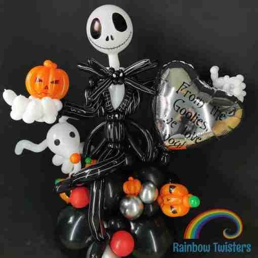 Skeleton Birthday Balloon Centrepieces by Rainbow Twisters Glasgow Balloon Company