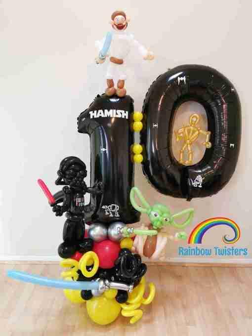 Custom Themed Birthday Balloon Centrepieces by Rainbow Twisters Glasgow Balloon Company