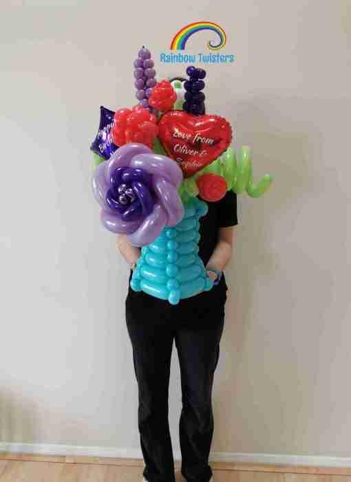 Rainbow Twisters Balloon Flowers