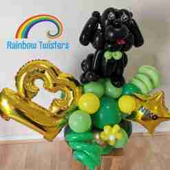 Dog Themed Birthday Balloon Centrepieces by Rainbow Twisters Glasgow Balloon Company