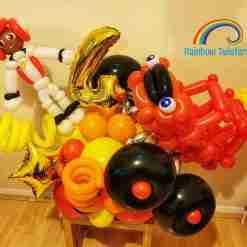 Car/Vehicle Birthday Balloon Centrepieces by Rainbow Twisters Glasgow Balloon Company