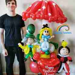 Custom Themed Birthday Balloon Centrepieces by Rainbow Twisters Glasgow Balloon Company