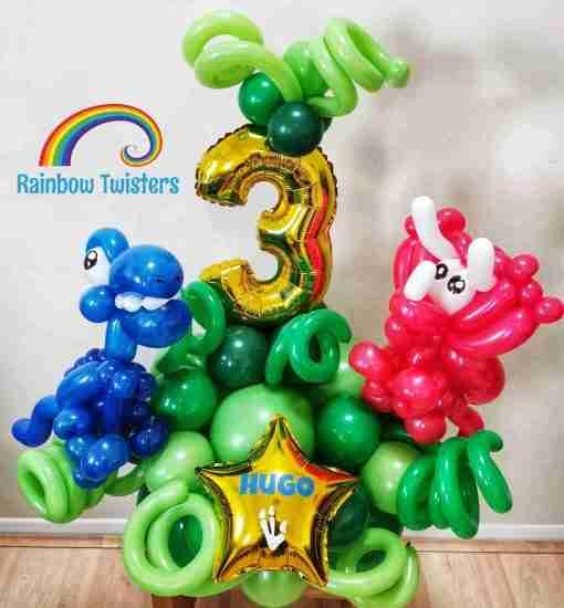 Dinosaur Birthday Balloons Rainbow Twisters Glasgow Balloon Company