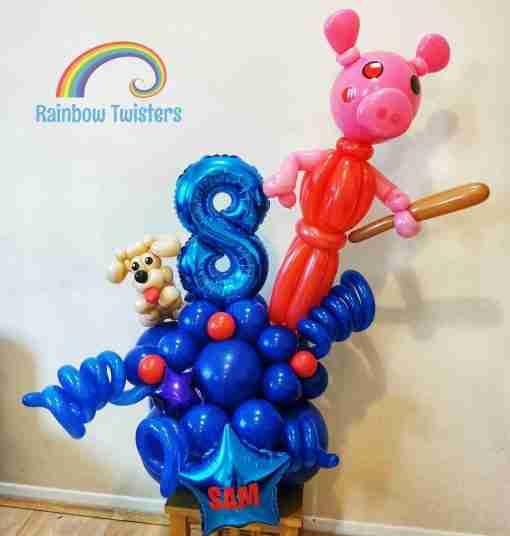 Game theme Birthday Balloon Centrepieces by Rainbow Twisters Glasgow Balloon Company