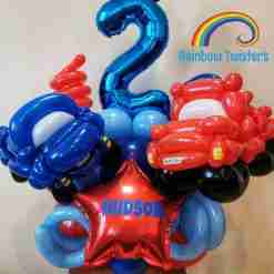 Car/Vehicle Birthday Balloon Centrepieces by Rainbow Twisters Glasgow Balloon Company