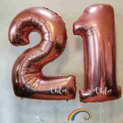 Floating Birthday Numbers Rainbow Twisters Glasgow Balloon Company