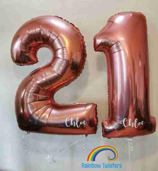Floating Birthday Numbers Rainbow Twisters Glasgow Balloon Company