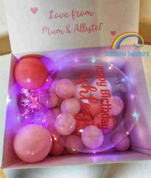 Bubble Balloon Surprise Box Rainbow Twisters Glasgow