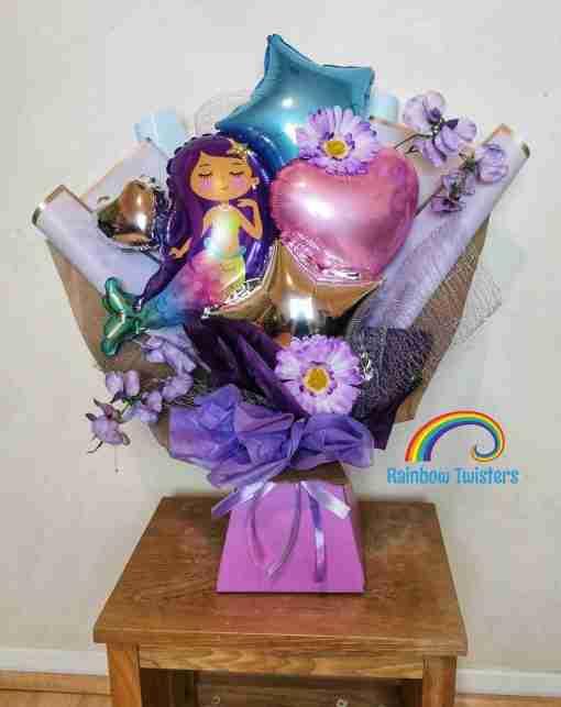 Mermaid Balloon Bouquet Rainbow Twisters Glasgow