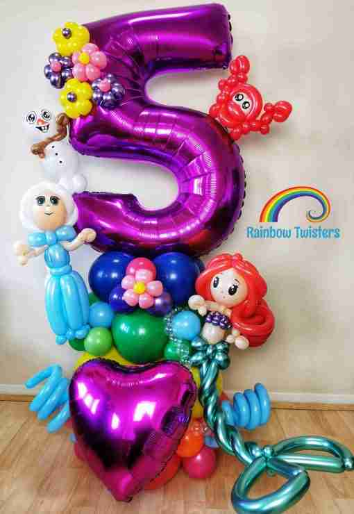 Mermaid themed birthday balloons Rainbow Twisters Glasgow