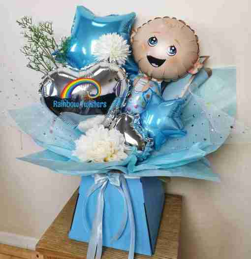 Baby Balloon Bouquets Rainbow Twisters Balloon Gifts and Delivery