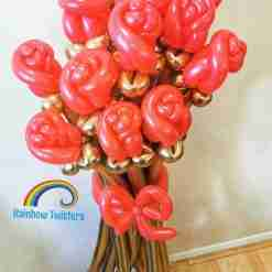 Rose Bouquet Rainbow Twisters Glasgow Balloon Delivery