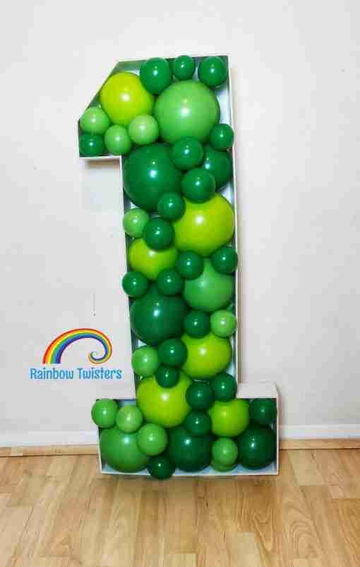 Balloon Mosaic Number Rainbow Twisters Glasgow