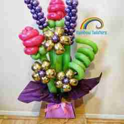 Balloon Flower Box Rainbow Twisters Balloon Gifts and Delivery