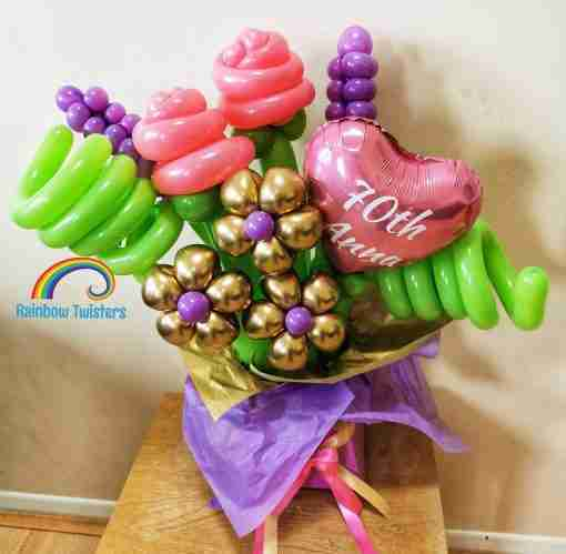 Flower Bouquet Box UK Rainbow Twisters