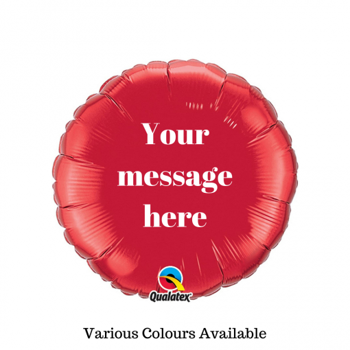 Personalised Message Balloon Glasgow Rainbow Twisters Balloon Company