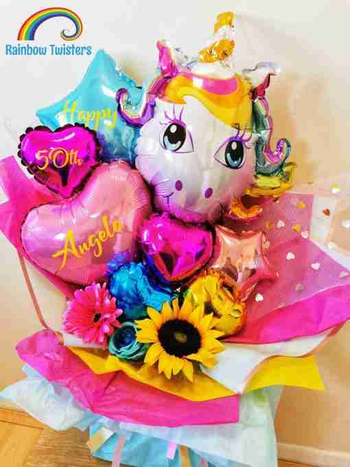 Unicorn Bouquet Rainbow Twisters Balloon Company