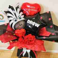 Zebra Balloon Bouquet Rainbow Twisters