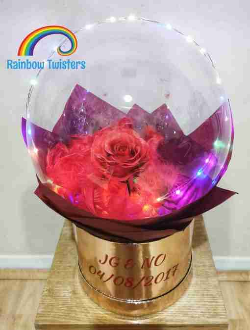 Rose Bubble Box Rainbow Twisters UK delivery