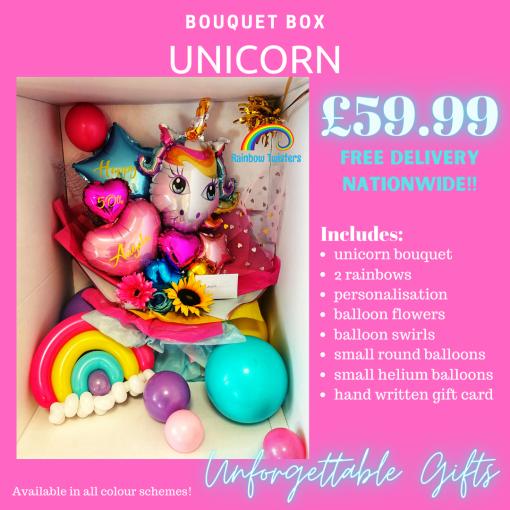 Unicorn Bouquet Box by Rainbow Twisters
