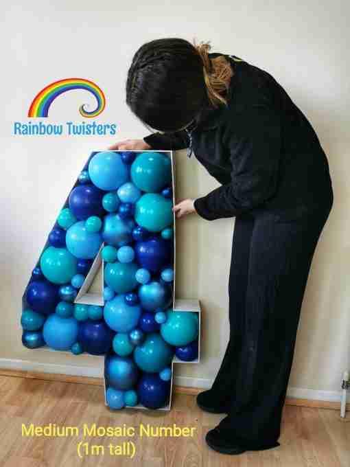 Balloon Mosaic Numbers Rainbow Twisters Glasgow Balloon Company