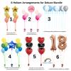 Helium Balloon Arrangement by Rainbow Twisters Glasgow Balloon Company