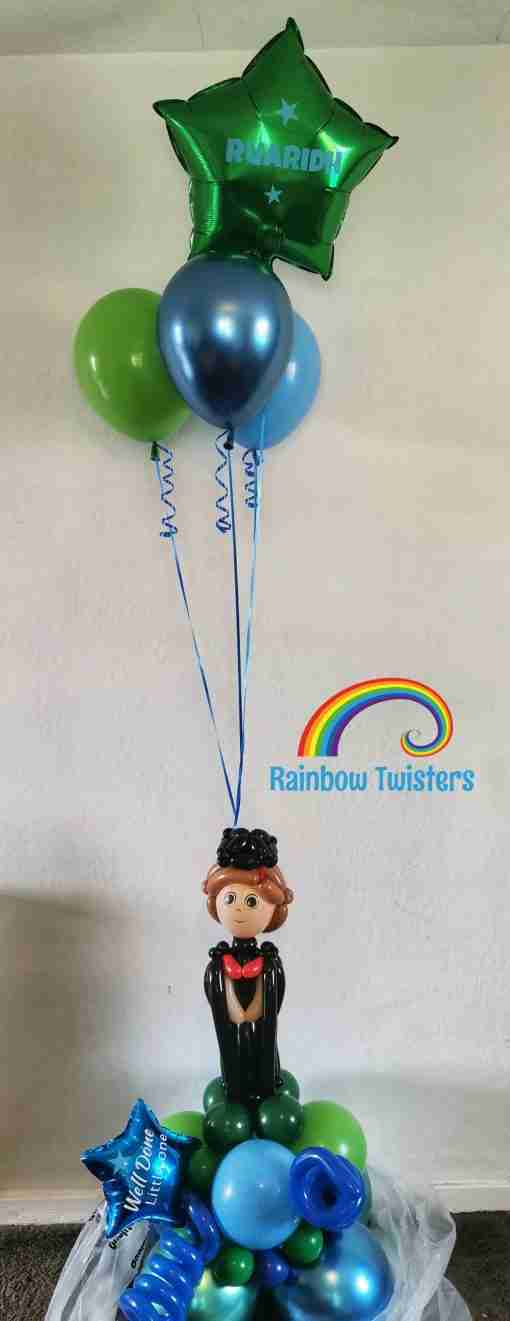 Graduation Centrepiece Rainbow Twisters Glasgow Balloons